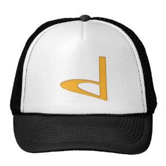 d Lowercase American Letter Trucker Hats