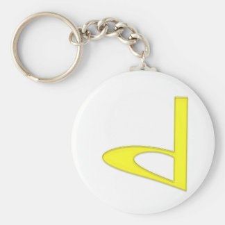 d Lowercase American Letter Basic Round Button Key Ring