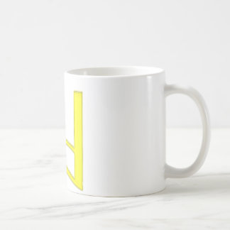 d Lowercase American Letter Classic White Coffee Mug