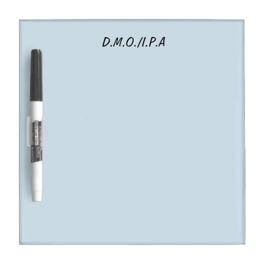 D.M.O/I.P.A planning dry erase board
