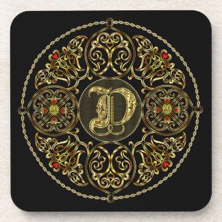 D Monogram SET Best viewed large. see notes Drink Coaster