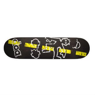 D.O.A. Chalk Outline 18.1 Cm Old School Skateboard Deck