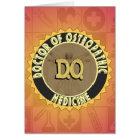 D.O. BADGE vitruvian Man DOCTOR OSTEOPATHY Card
