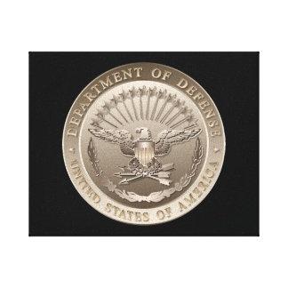 D.O.D Government Emblem Canvas Print