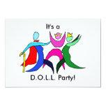 D.O.L.L. Party 5x7 Paper Invitation Card