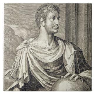 D. Octavius Augustus (63 BC - 14 AD) Emperor of Ro Large Square Tile