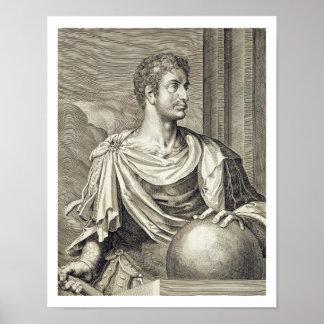 D. Octavius Augustus (63 BC - 14 AD) Emperor of Ro Poster
