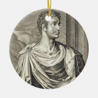 D. Octavius Augustus (63 BC - 14 AD) Emperor of Ro Round Ceramic Decoration