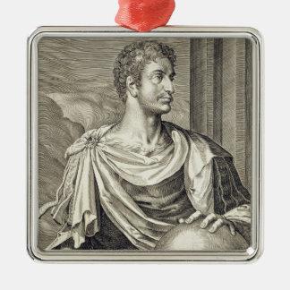 D. Octavius Augustus (63 BC - 14 AD) Emperor of Ro Silver-Colored Square Decoration