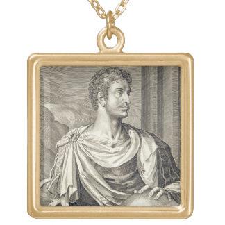 D. Octavius Augustus (63 BC - 14 AD) Emperor of Ro Square Pendant Necklace