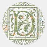 D Ornate Floral Monogram Stickers