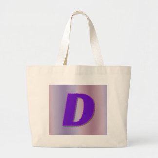 D purple monogram large tote bag