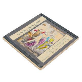 D. Quixote-I Magic lantern view Chapter XXXV Maple Wood Coaster