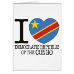 D R Congo Love v2 Greeting Card