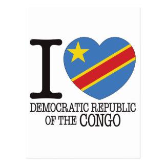 D R Congo Love v2 Post Card