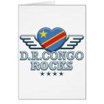 D R Congo Rocks v2 Greeting Card