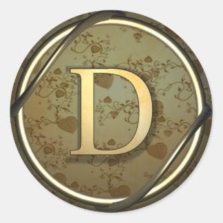 d round sticker