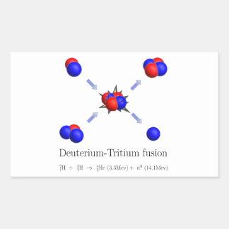 D-T fusion Rectangular Sticker