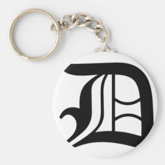 D-text Old English Key Ring