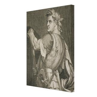 D. Titus Vespasian Emperor of Rome 79-81 AD engrav Canvas Print