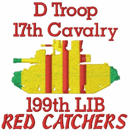 D Troop 17th Cav. 199th LIB M551 Sheridan Shirt Embroidered Polo Shirts