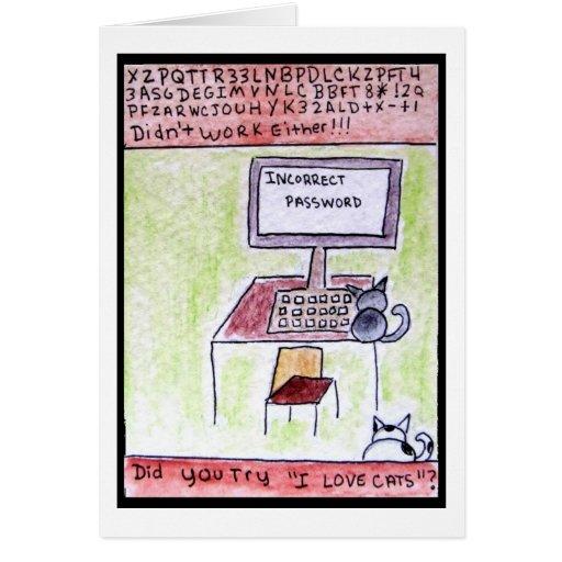 DA CatToon #4 - Cat Hackers Card