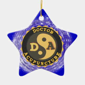 DA DOCTOR OF ACCUPUNCTURE LOGO CHRISTMAS ORNAMENT