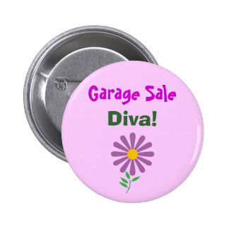 DA- Garage Sale, Diva! Button