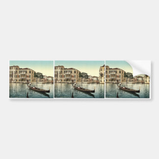 Da Mulla Palace, Venice, Italy vintage Photochrom Bumper Stickers