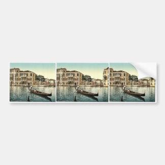 Da Mulla Palace, Venice, Italy vintage Photochrom Bumper Stickers