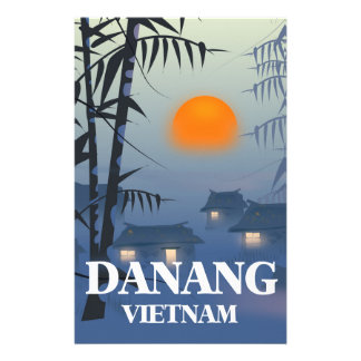 Da Nang Vietnam Travel poster Stationery