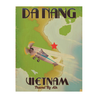 Da Nang Vietnam vintage travel poster