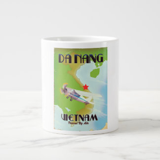 Da Nang Vietnam vintage travel poster Large Coffee Mug