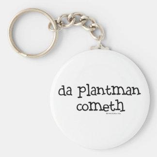 da plant man cometh basic round button key ring