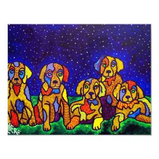 Da Puppy's 11 Cm X 14 Cm Invitation Card