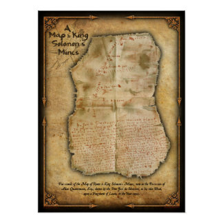 Da Silvestra's Map to King Solomon's Mines Poster