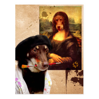 Da Vinci and The Mona Lisa Postcard