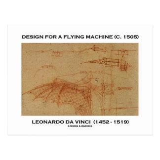 Da Vinci Design For A Flying Machine Post Card