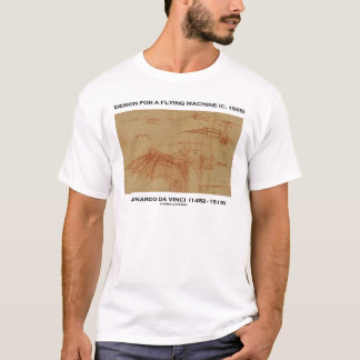 Da Vinci Design For A Flying Machine T-Shirt