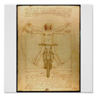 Da Vinci Dirt Bike Motocross Supercross Freestyle  Poster