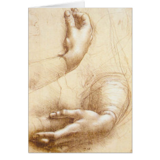Da Vinci Hands Greeting Card