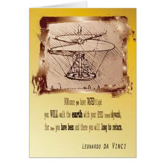 Da Vinci Helicopter Card