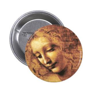 Da Vinci La Scapigliata Button