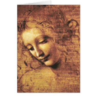 Da Vinci La Scapigliata Greeting Card