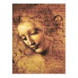Da Vinci La Scapigliata Postcard