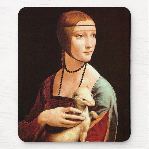 Da Vinci: Lady With The Ermine Mousepad