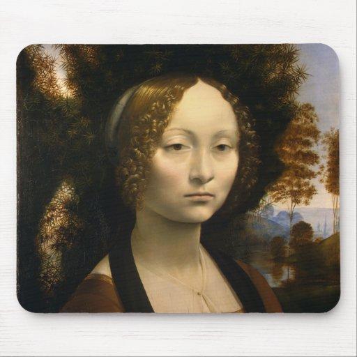 Da Vinci, Leonardo Ginevra de' Benci Mouse Pads
