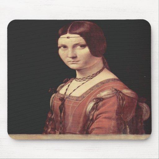 Da Vinci Leonardo - La belle ferronnière Mouse Pads
