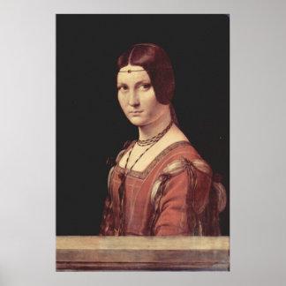 Da Vinci Leonardo - La belle ferronnière Poster