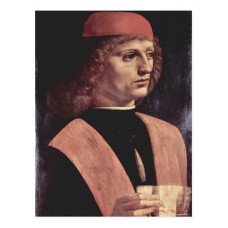Da Vinci, Leonardo - Portrait of a Music Postcard